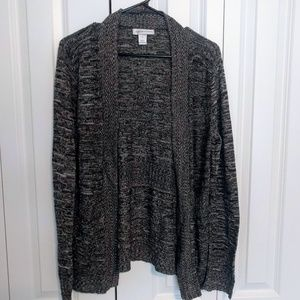 Christopher & Banks Woven Patterned Open Cardigan